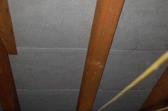 Unterdach aus Eternit