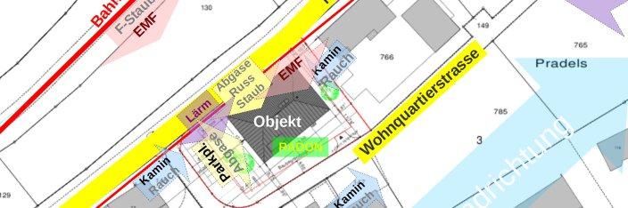 Altlasten in Böden von Deponien und aus Verkehr - Immissionen aus der Nachbarschaft, wie Feinstaub, Rauchgase, Elektrosmog, Lärm