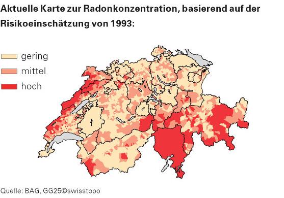 Radon-Karte 1993