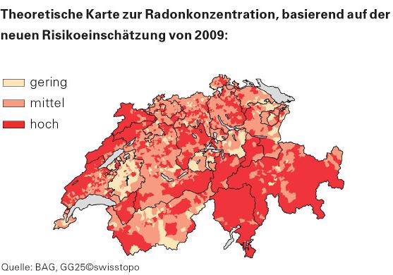 Radon-Karte 2009