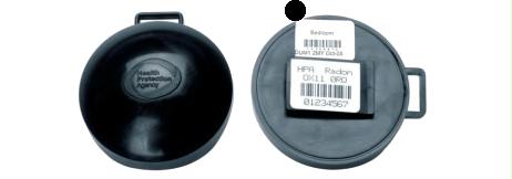 Kernspurdosimeter sind passive Messgeräte
